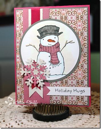 Sweet Sketch Sunday, MFT holiday hugs snowman